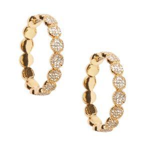 KATE SPADE • Gold Gatsby Dot Hoop Earrings